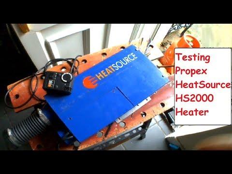 Propex HeatSource HS2000 Heater LPG Campervan Gas Heater Test