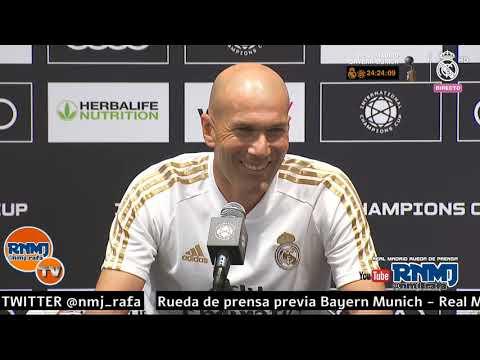Rueda de prensa de Zidane previa Bayern - Real Madrid | ICC 2019