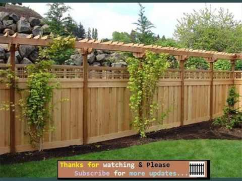 fencing ideas for backyards fences gates collection youtube. Black Bedroom Furniture Sets. Home Design Ideas