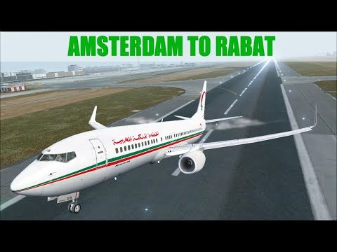 NEW FLIGHT SIMULATOR 2017 | AMSTERDAM - RABAT | ROYAL AIR MAROC | PMDG B737 | IVAO LIVESTREAM