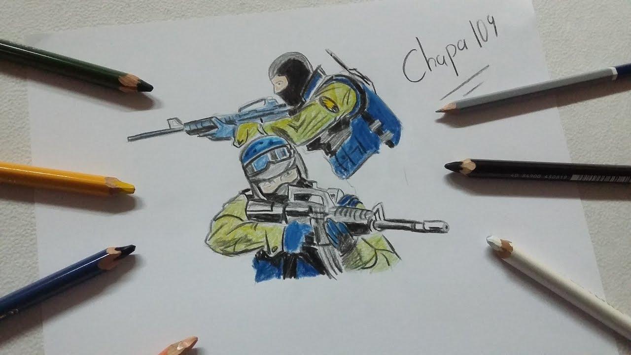 Worksheet. Dibujo de CS GO Counter Strike Drawing CS GO Counter Strike