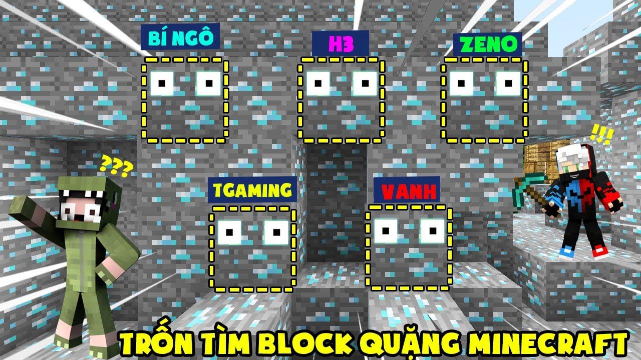 MINI GAME : TRÒ CHƠI TRỐN TÌM ** THỬ THÁCH T GAMING VÀ NOOB TEAM CHƠI TRỐN TÌM BLOCK QUẶNG MINECRAFT