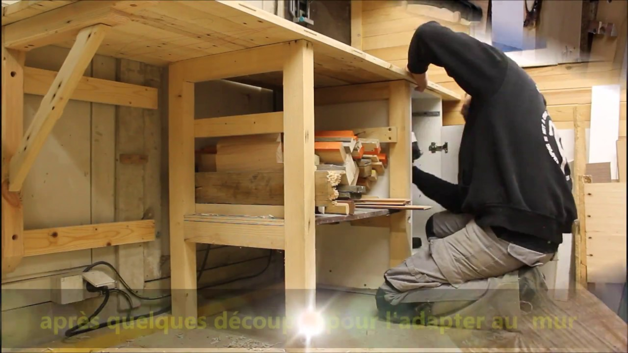 Fabrication D Un Plan De Travail En Bois De Palette Pour L Atelier Youtube