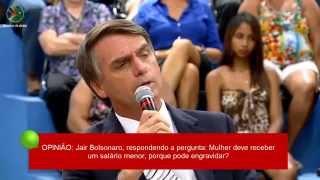 Bolsonaro: Mulher tem que receber salário menor, porque pode engravidar?