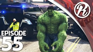 [GTA5] NEDERLANDSE POLITIE VS THE HULK!! - Royalistiq | Politie en boefje #55