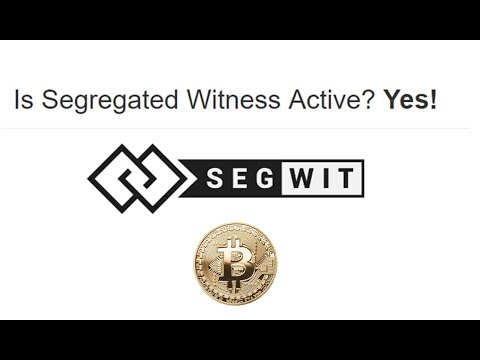 Segwit finalmente ativado no bitcoin
