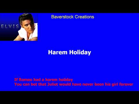 Harem Holiday   Elvis Presley