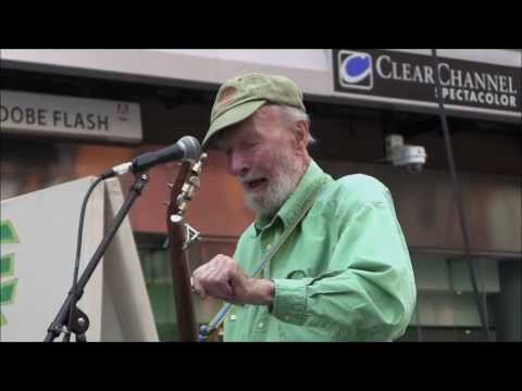 Pete Seeger in Times Square - 25th ECOFEST Anniversary