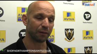 SAINTS 21 LEICESTER 20 Jim Mallinder reaction