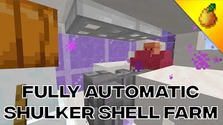 Fully Automatic Shulker Shell Farm 20w45a Youtube