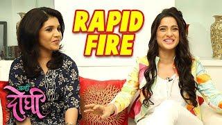 Mukta Barve & Priya Bapat's Candid Rapid Fire   आम्ही दोघी Aamhi Doghi Marathi Movie 2018