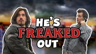 PARANOID PRANK - Making People freak out at Walmart!!