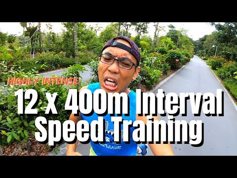 12 Sets Of 400m Intervals | Speed Training | 400m Run Repeats
