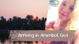 First days in Arambol, Goa in India