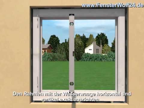 fensterdemontage und einbauanleitung f r fenster und t ren mit youtube. Black Bedroom Furniture Sets. Home Design Ideas