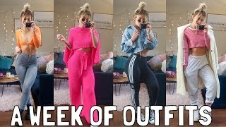 WHAT I WORE FOR A WEEK  SPRING OUTFITS: TOPSHOP, PRETTYLITTLETHING, ASOS &amp MORE
