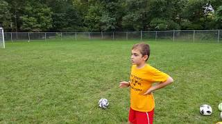 Trying to recreate Ronaldo's free kick against Spain in the 2018 World Cup