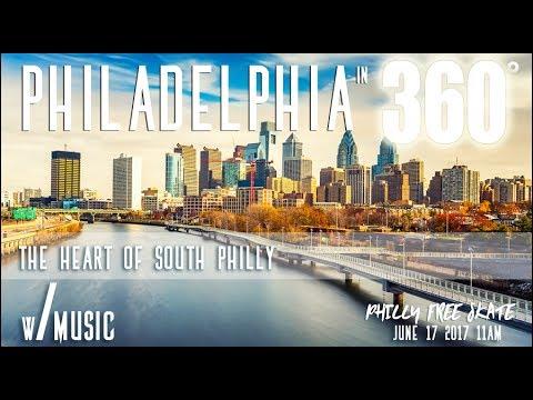 Inline Skating Philadelphia in 4K 360 Video: Music by BWO  (Part 7)