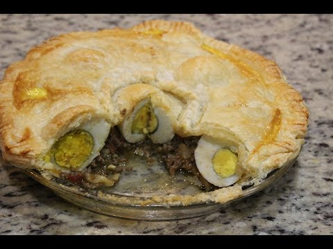 Egg & meat pie