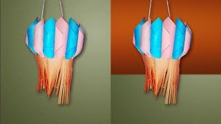 How to make #Diwali decoration ideas   Christmas lantern #Decoration with paper