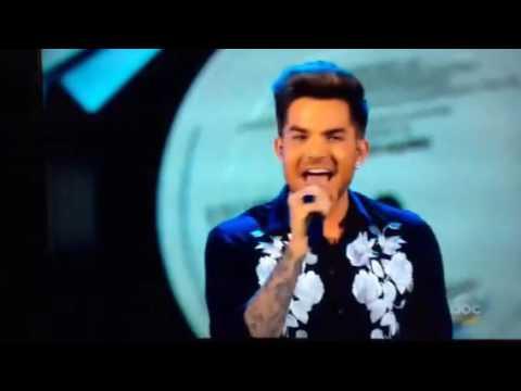 Adam Lambert singing Faith