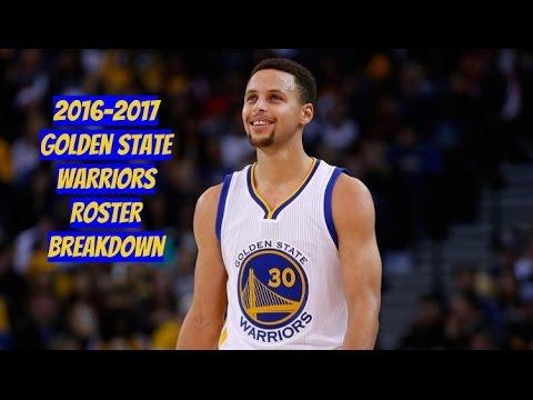 2016-2017 Golden State Warriors Roster Breakdown: NBA 2k17 Rosters