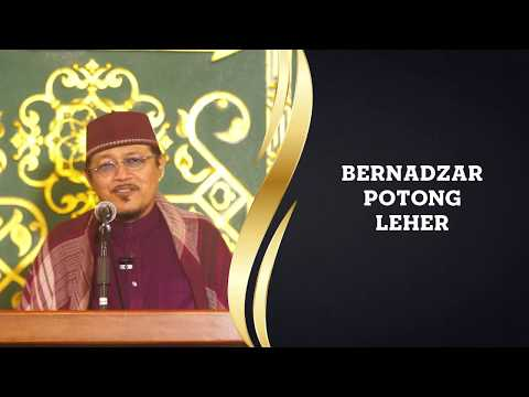 BERNADZAR POTONG LEHER : Kyai Prof Dr H Ahmad Zahro MA Al-Chafidz