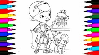 Disney Junior Doc McStuffins Coloring Pages l Learning Colors By Coloring Drawing Pages Kids Videos