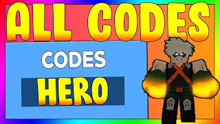 ALL NEW HEROES ONLINE CODES | ROBLOX CODES