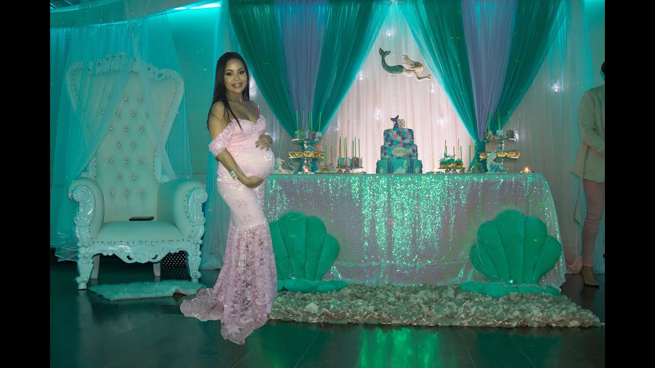 Zena S Mermaid Baby Shower Best Baby Shower Game Youtube