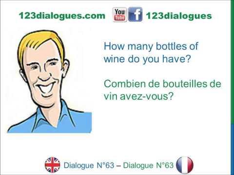 Dialogue 63 - English French Anglais Français - Airport Customs - Douane à l'aéroport