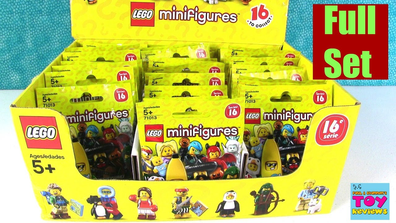 Lego Minifigure Minifig Series 16 Blind Bag Opening Full Set
