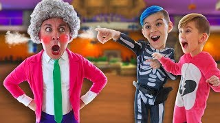 Scary Teacher 3D In Real Life! Grrrumball Prank Attack (FUNhouse Family)