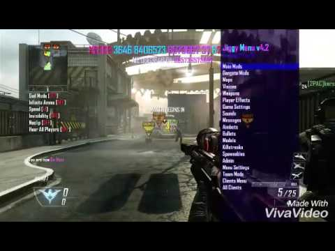 Black Ops 2 Modded Lobby Xbox 360 | Using Jiggy Mod Menu Bo2 2016