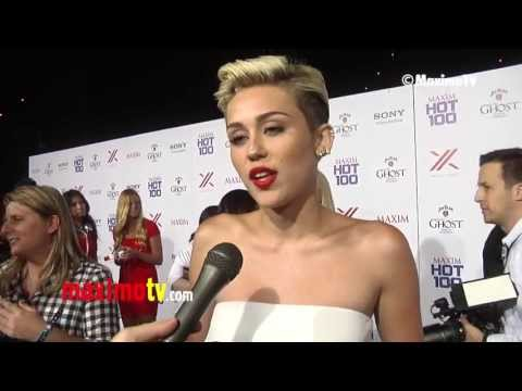 Miley Cyrus On Being Number 1 On 2013 MAXIM TOP 100 World's Most Beautiful Women List