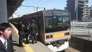 JR中央線 209系1000番台  営業運転開始! 豊田駅にて