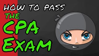 how to pass the cpa exam with only ninja cpa review