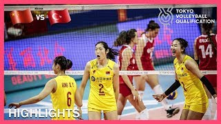 China Vs Turkey | Highlights | Day 3 | Women's Volleyball Olympic Qualification Tournament 2019