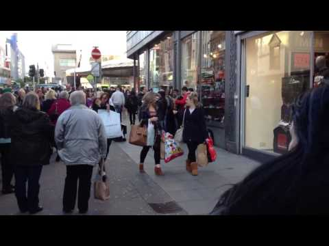 Cool busking band in Nottingham town centre