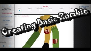 Creating Basic Zombie | Speedart | StickNodes