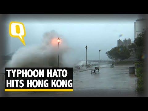 Deadly Typhoon 'Hato' Hits Hong Kong, China