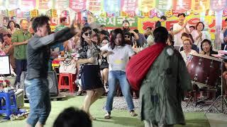 양푼이품바 여자의 일생 옛 트로트 메들리 7곡 관객대박 빽댄서 일산 해수욕장 0713
