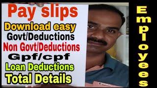 Telugu ap çalışanların maaş detaylar ve Son ödeme makbuzları indirmek için nasıl