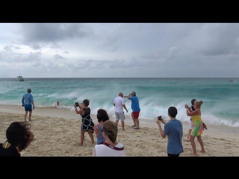 EXTREME!! JET BLAST AT MAHO BEACH St.Martin (4K)
