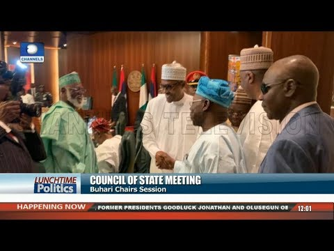 Buhari Chairs Council Of State Meeting As Obasanjo, Jonathan, Others Attend  Lunchtime Politics 