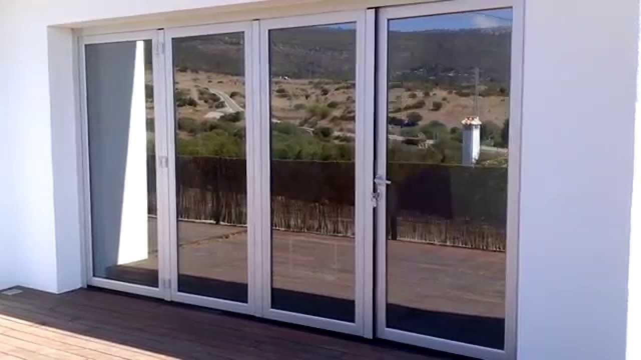 Puerta replegable con rotura puente t rmico de aluminio - Puertas terraza aluminio ...