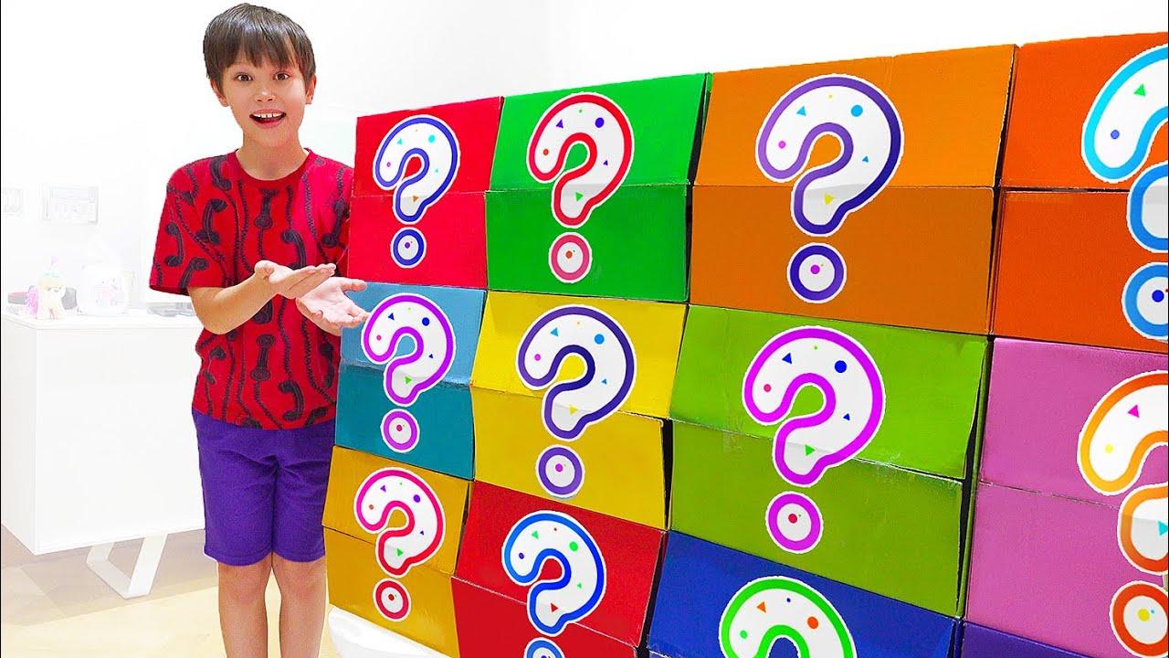 Макс и сюрприз игрушки в коробках - история для детей