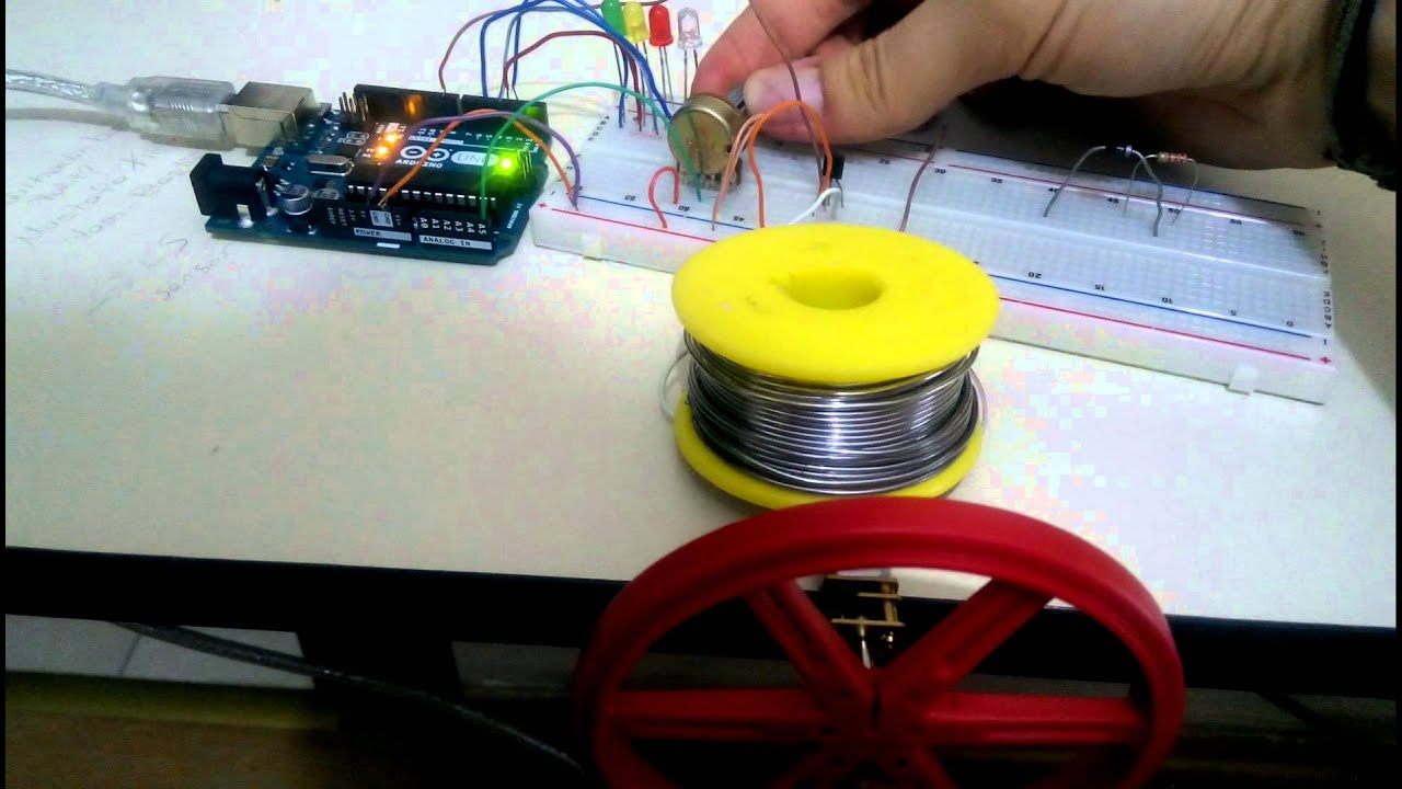 Dc motor pwm speed control and led rpm gauge with arduino