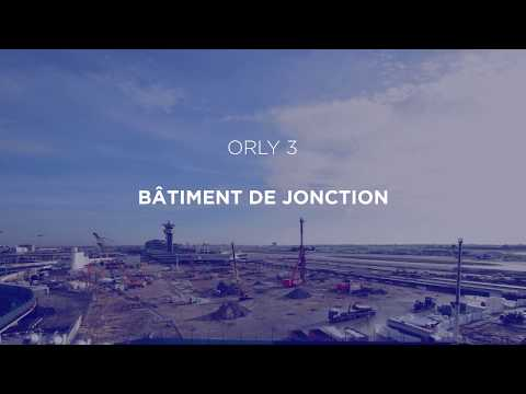 Time-lapse de la construction du bâtiment de jonction de Paris-Orly