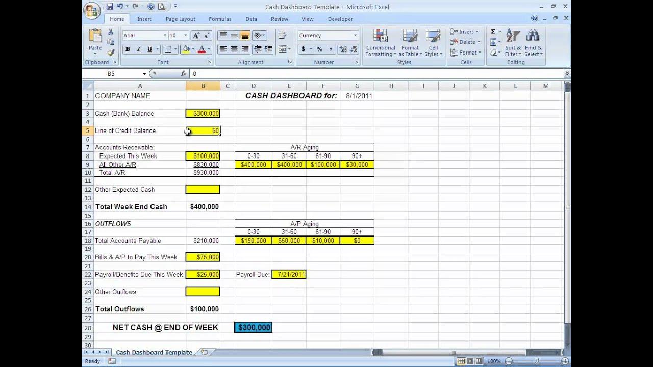 Cash Flow Report Sivandearest
